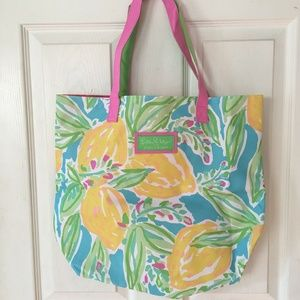 Lilly Pulitzer Estee Lauder Tote Beach Bag NEW